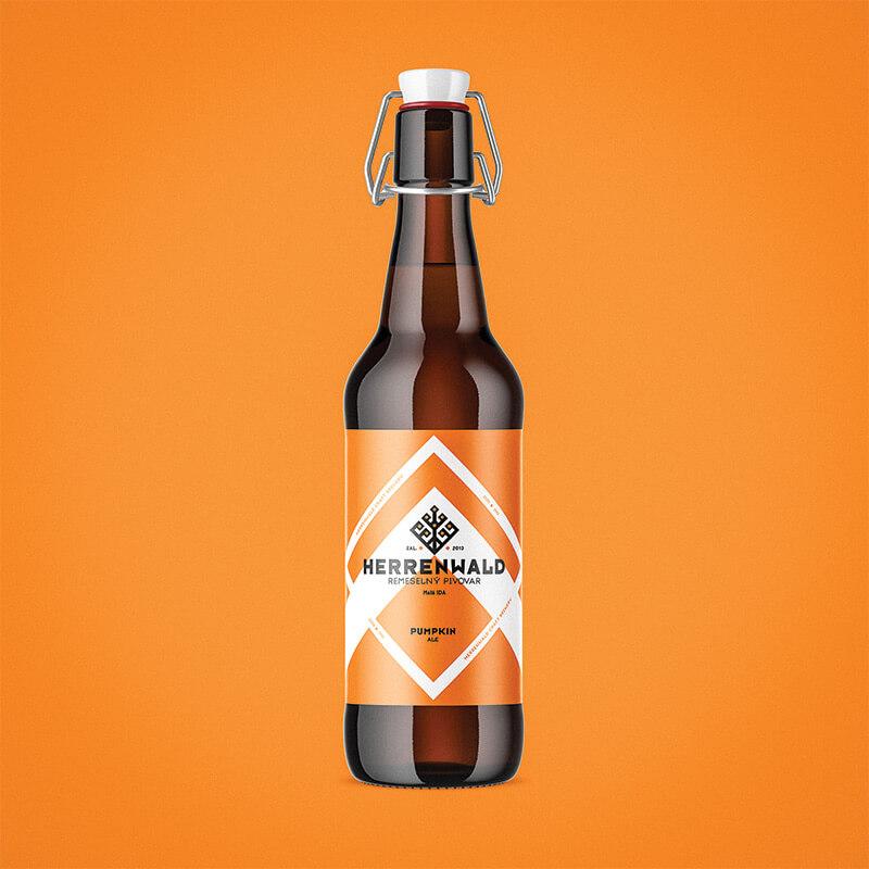 Beer label, packaging design - PUMPKIN for HERRENWALD craft brewery