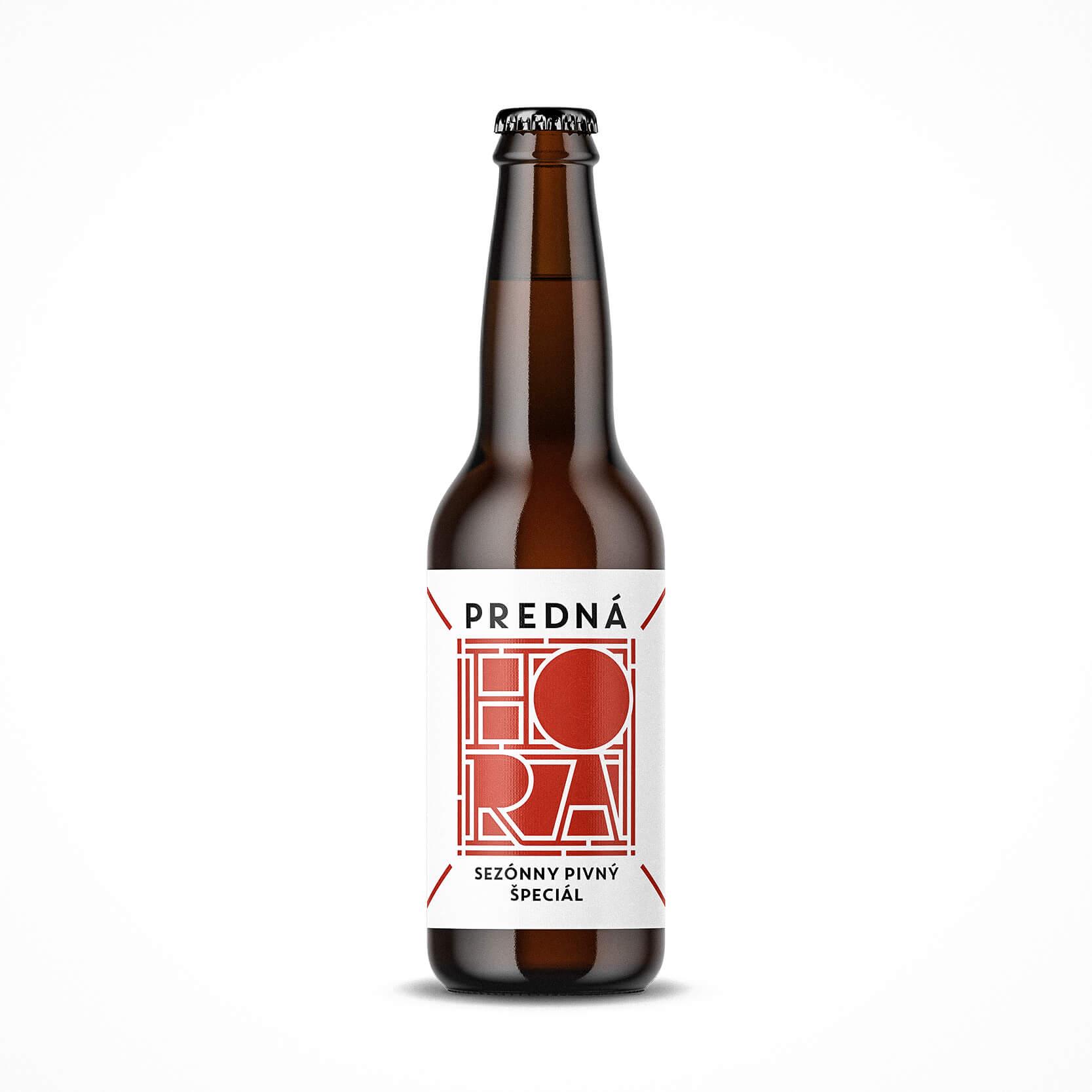 Etiketa na pivo, obalový dizajn pivný špeciál Predná Hora