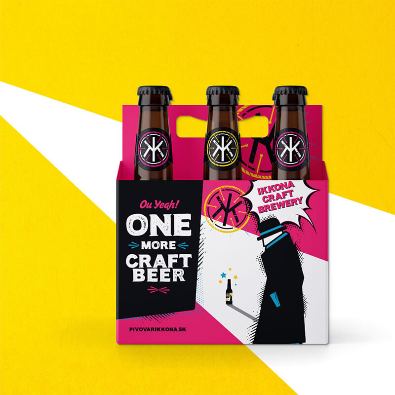 Packagin design, Six Pack for One More IPA - IKKONA craft brewery