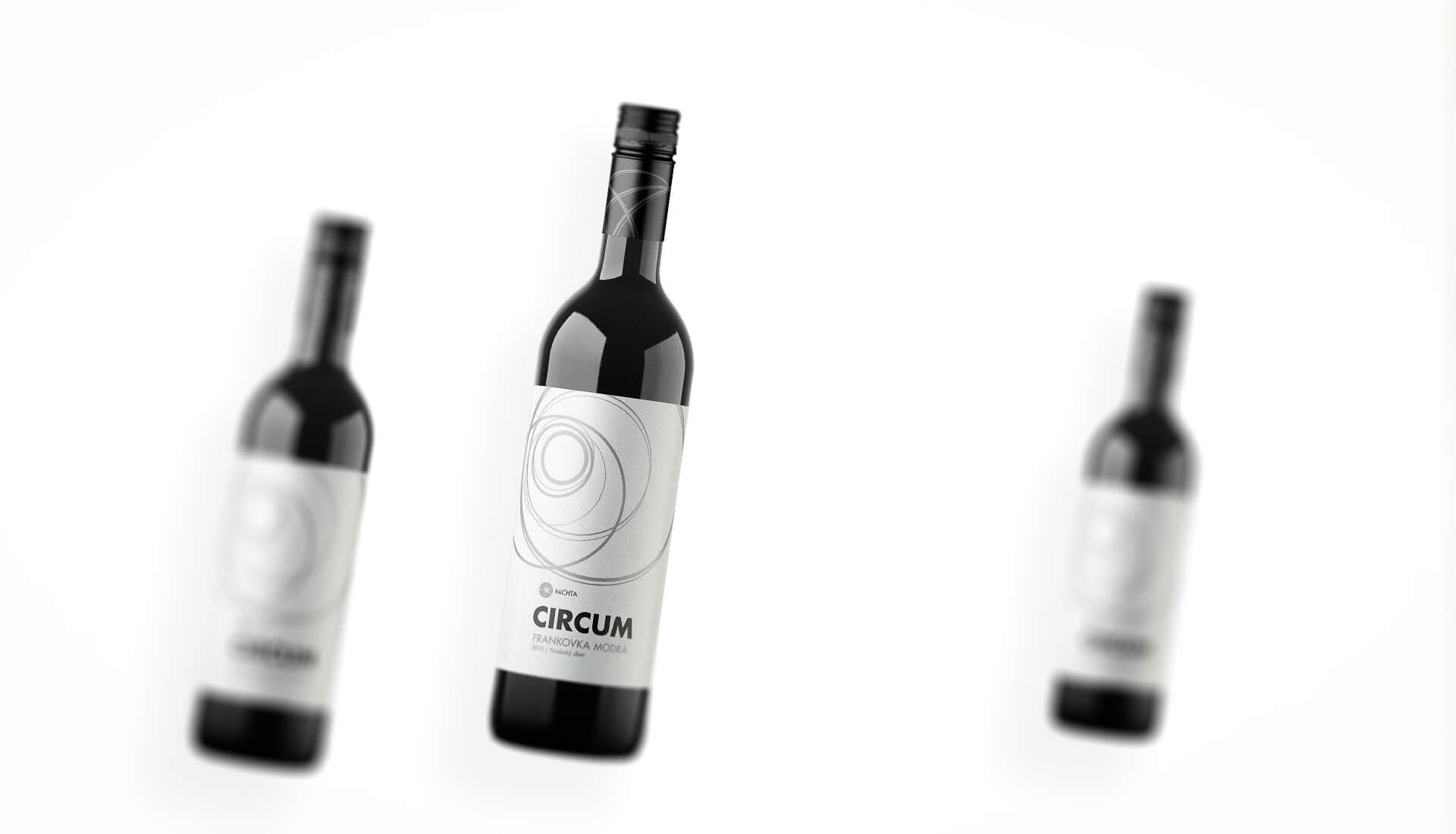 Wine label packaging design CIRCUM NICHTA winery red wines