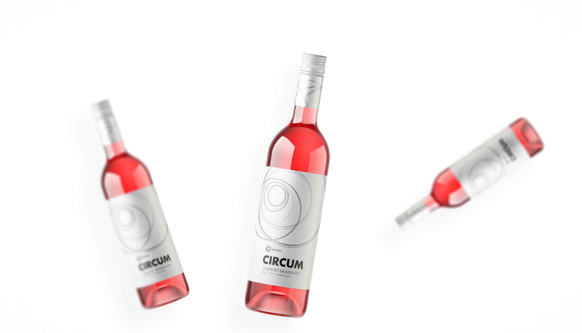 Wine label packaging design CIRCUM NICHTA winery rose wines