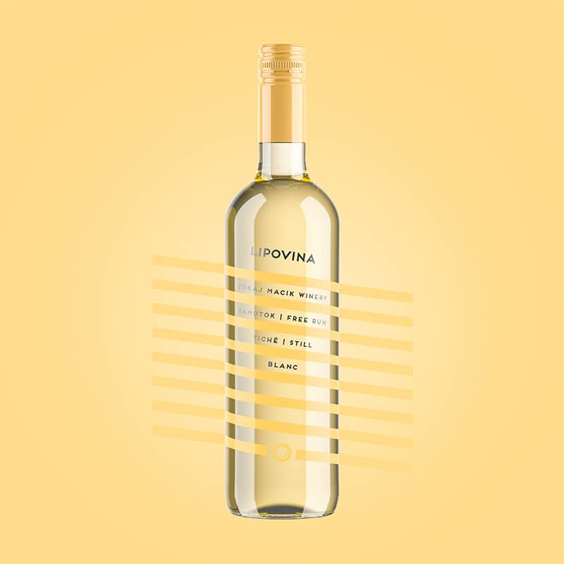 Wine label, packaging design Lipovina - Free Run for TOKAJ MACIK WINERY